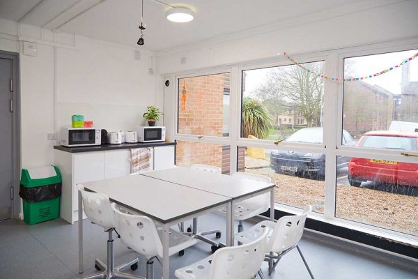 Beechcroft Kitchen - Student kitchen at Beechcroft halls of residence by Norwich University of the Arts