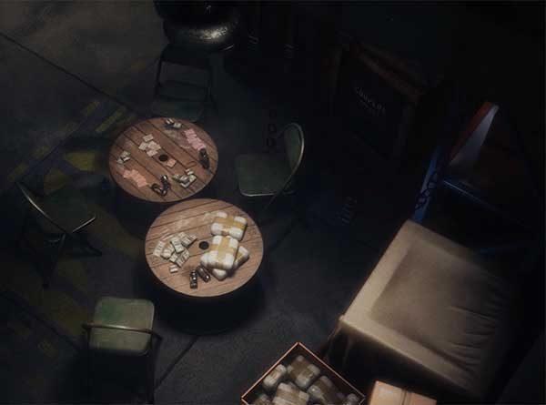 Callum Fuller - 3D environment image of inside a storeroom