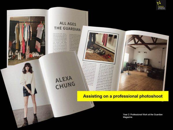 Guardian Magazine - Year 2 BA (Hons) Fashion Communication and Promotion professional work