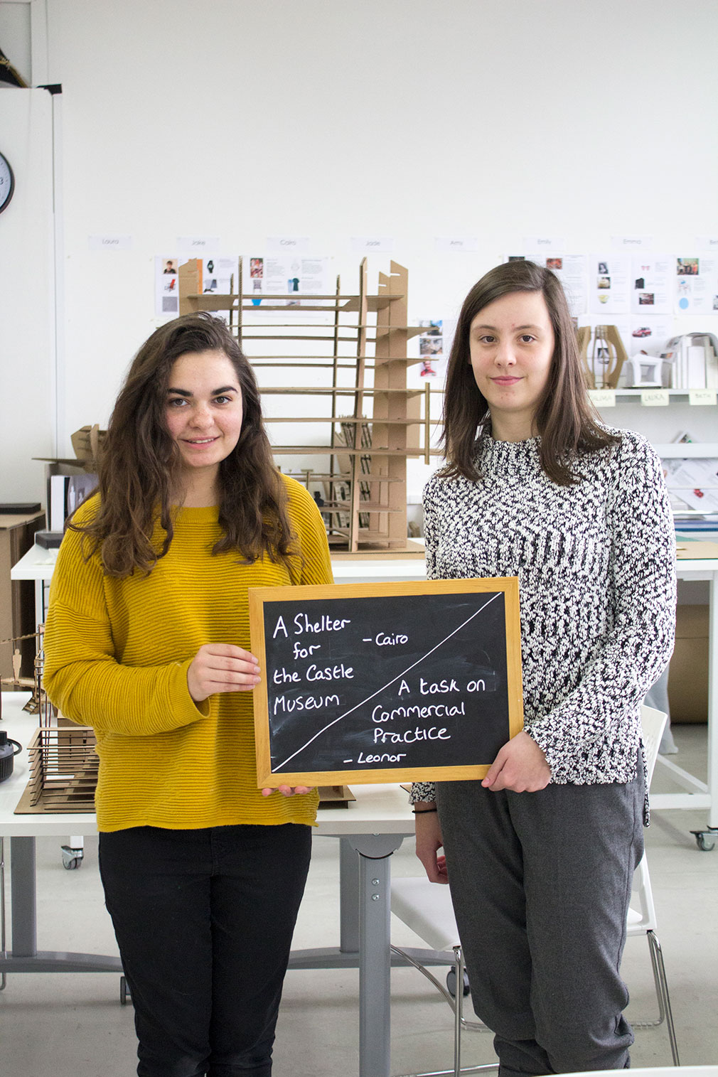 What are you working on at the moment? - Cairo & Leonor, BA (Hons) Interior Design