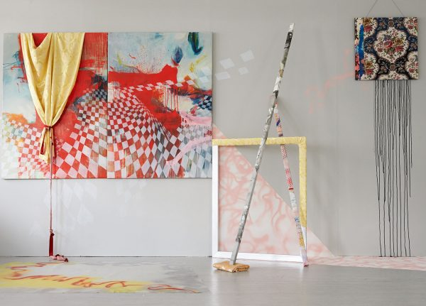 Rhona Fleming - Image of a painting and a frame in an installation