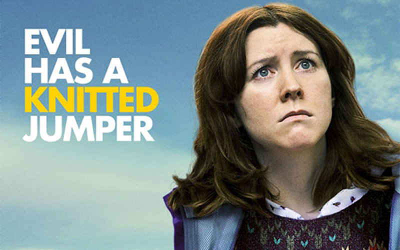 poster for Alice Lowe's film Sightseers shows actor Alice Lowe looking questionably offscreen