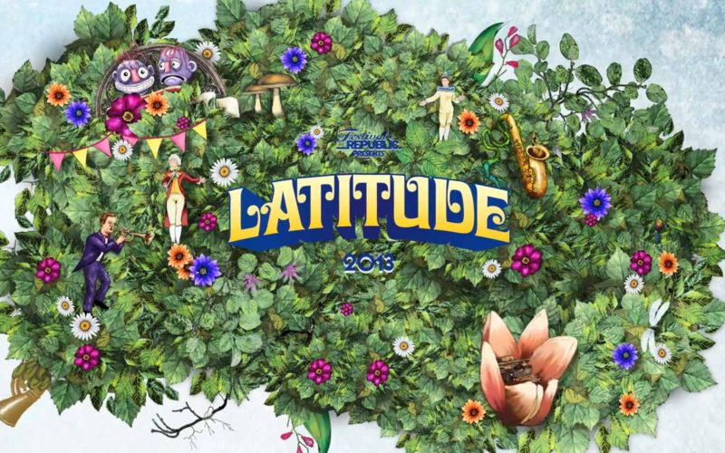 student design for Latitude shows many leaves expanding outwards with flowers, musical instruments and human figures playing