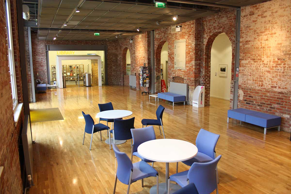 Duke Street Foyer, venue for hire at Norwich University of the Arts