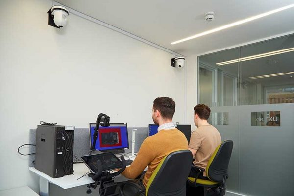 - UX Lab with two users at Norwich University of the Arts
