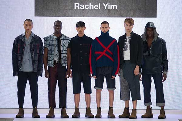 Rachel Lim - Image of a collection of models wearing male clothing designed by Rachel Yim