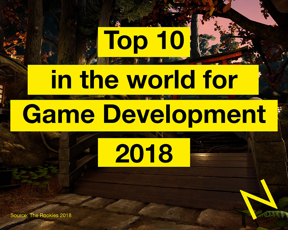 Top 10 in the world for Game Development - The Rookies