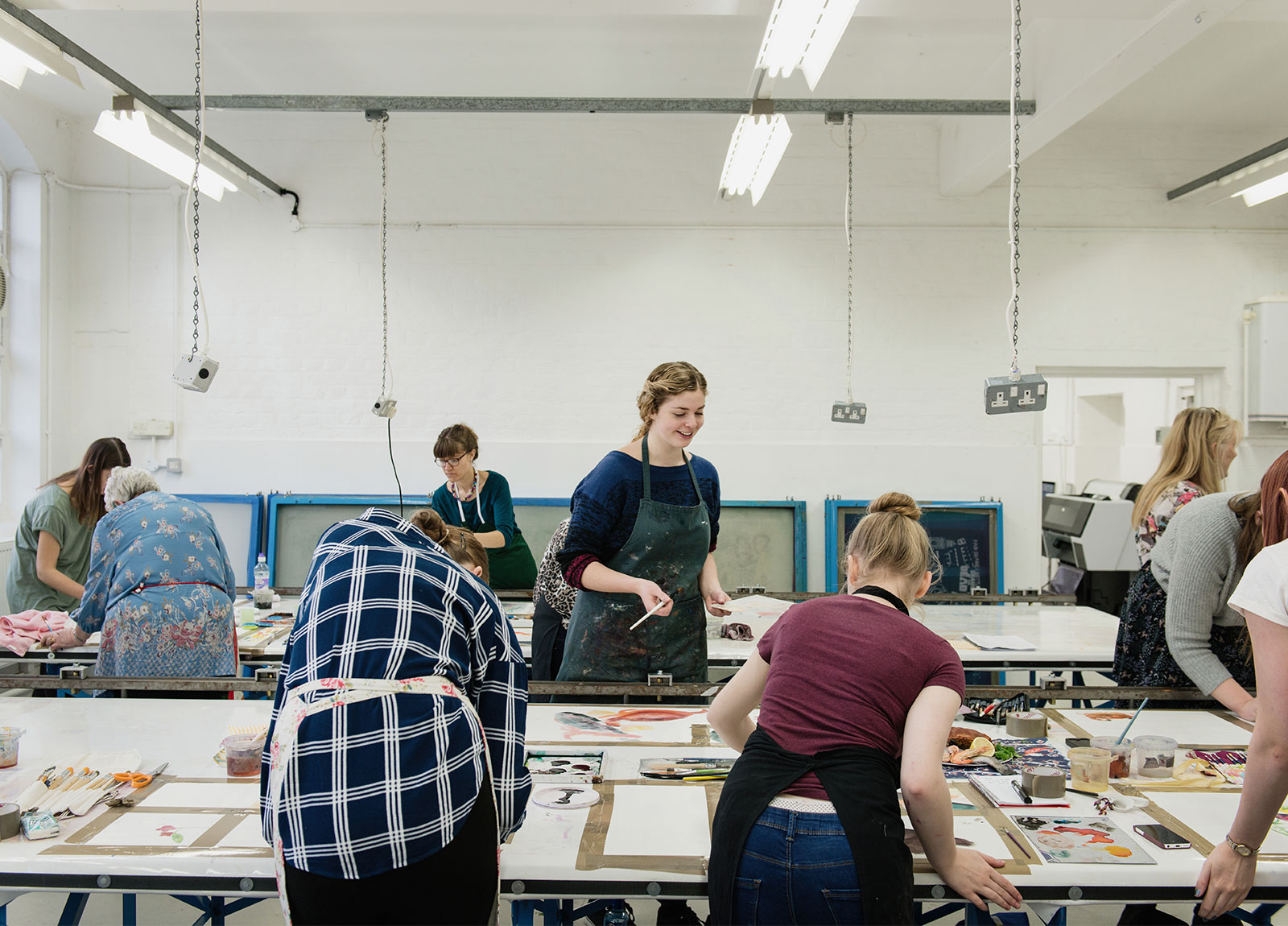 Textiles students at NUA