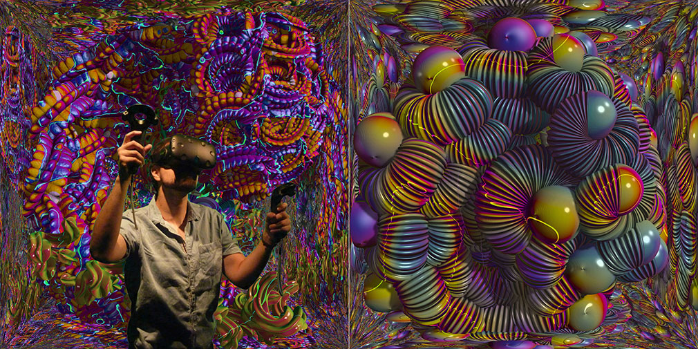 Mutator VR image showing art made by Virtual Reality.