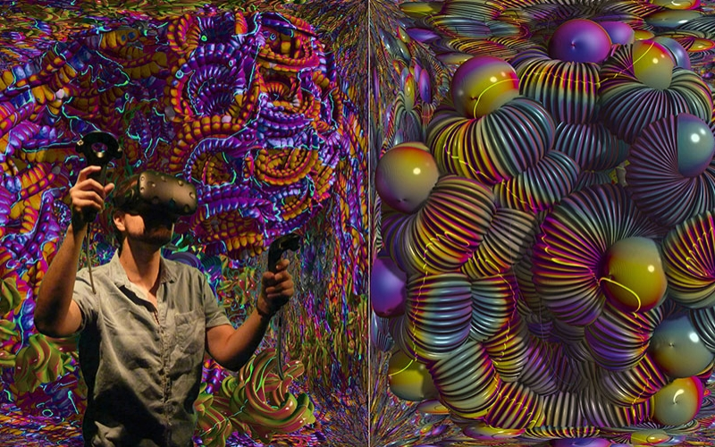 Mutator VR image showing art made by Virtual Reality