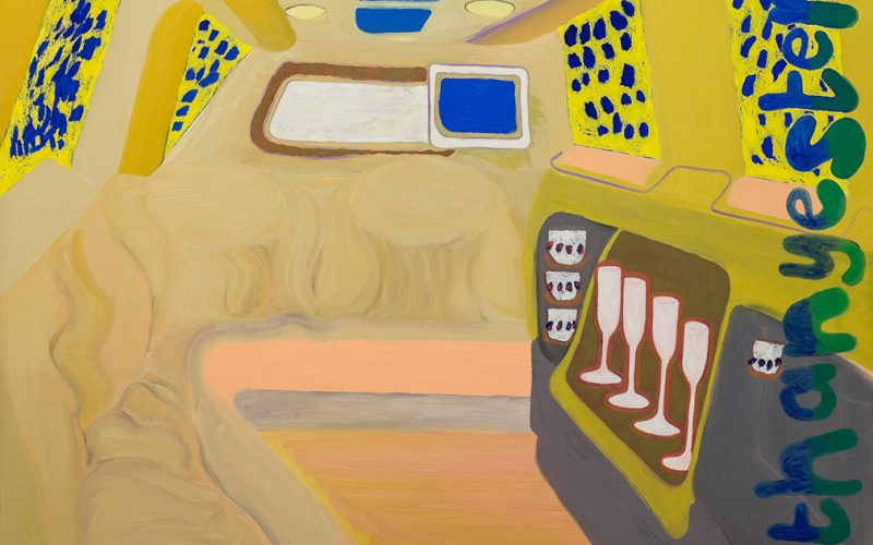 Jerwood Painting Fellowships painting by Francesca Blomfield showing a limo