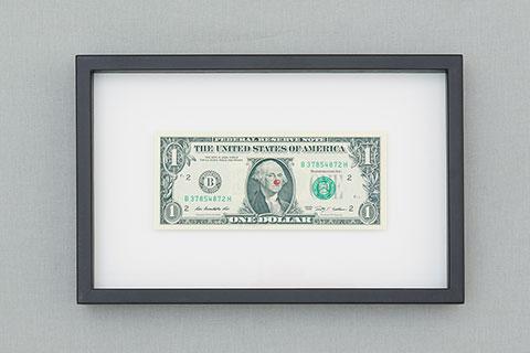 Dollar bill by Hans Peter Feldmann