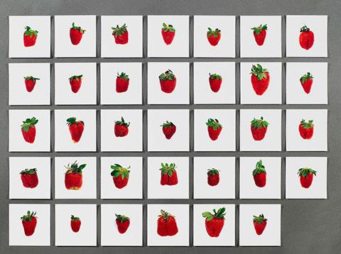 Hans Peter Feldmann image with strawberries on