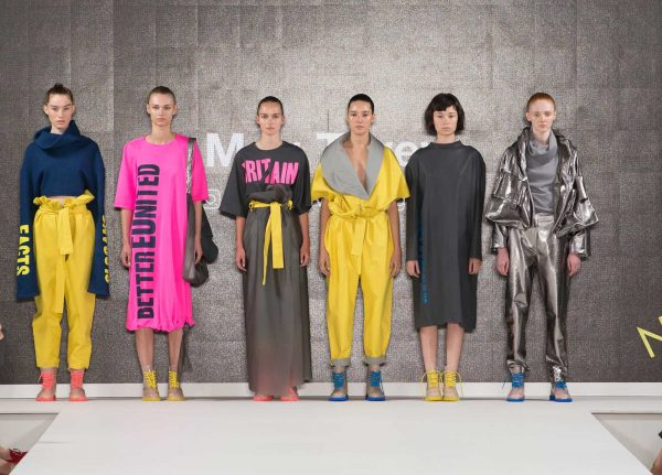 Meg Tovey - Image of a colourful collection feauring bright colours and metallics by Meg Tovey at Graduate Fashion Week