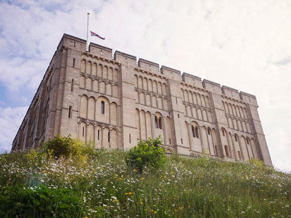 Norwich Castle Art Museum and Gallery - Image of Norwich's Medieval Castle on top of a green hill