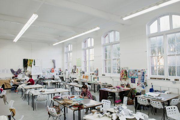 - Photograph of NUA's textile design studios