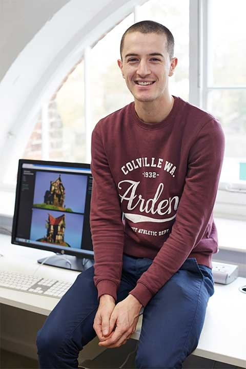 Image of NUA Games Art and Design lecturer Chris Green