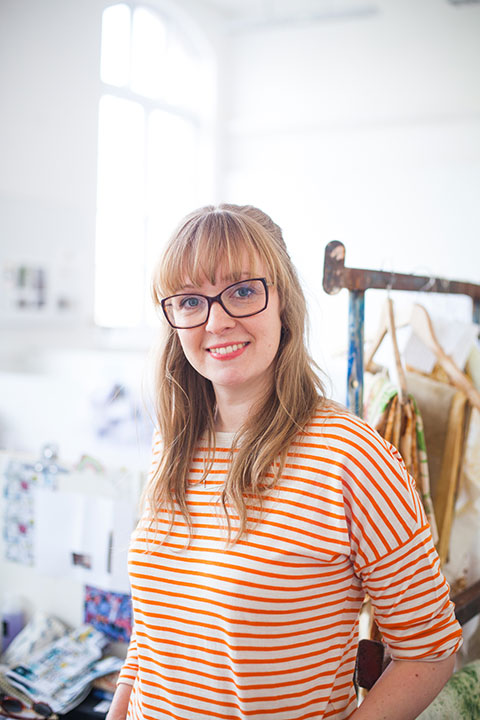 Helen Paine of Norwich University of the Arts in the Textiles studio