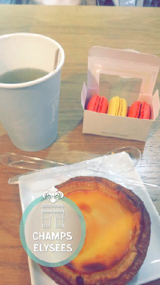 - Food and drink in Paris on a table with macaroons