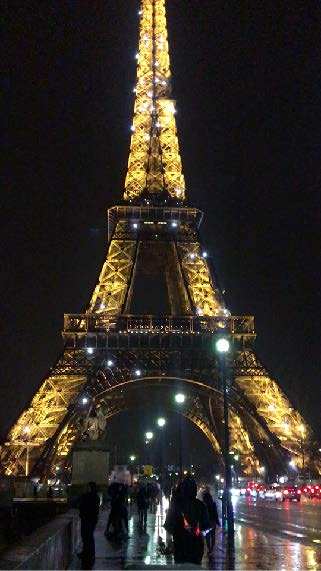 - The Eiffel Tower at night by NUA students