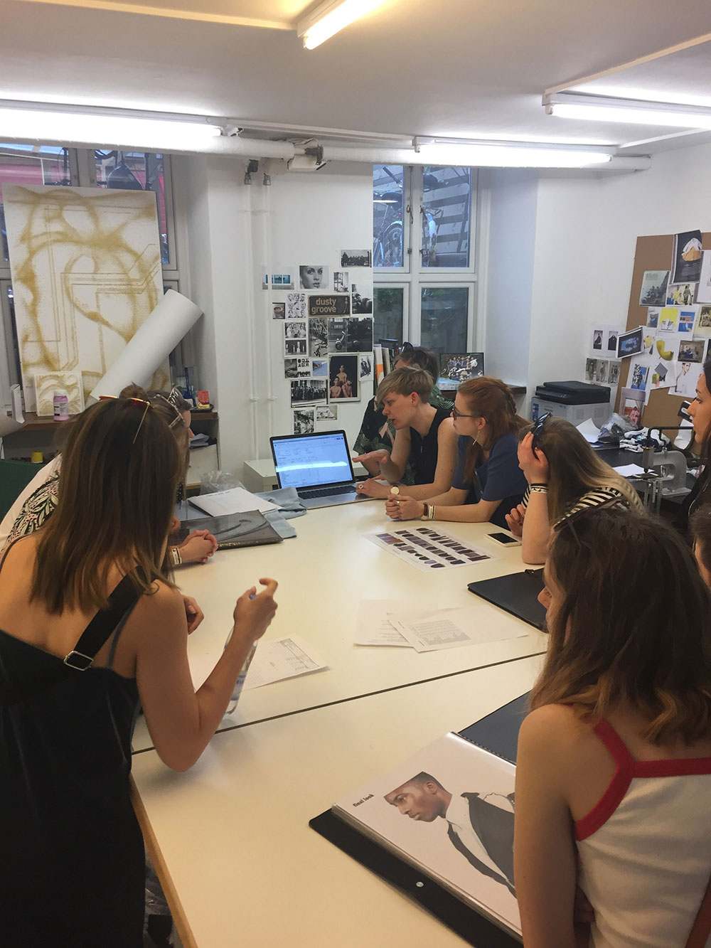 BA Fashion students from Norwich University of the Arts visiting a design student in Copenhagen