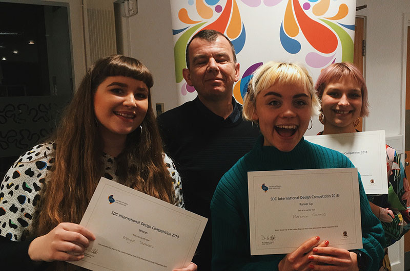 NUA students at the Society of Colourists and Dyers awards