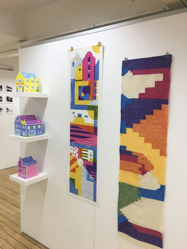 - Colourful house models and tapestry in the Illustration Degree Show at Norwich University of the Arts