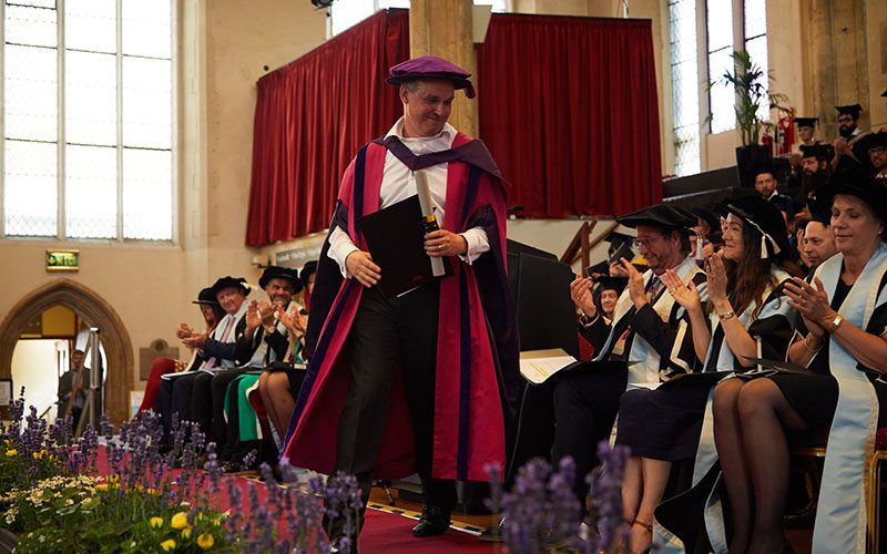 Paul Franklin receives his Honorary Doctorate from Norwich University of the Arts