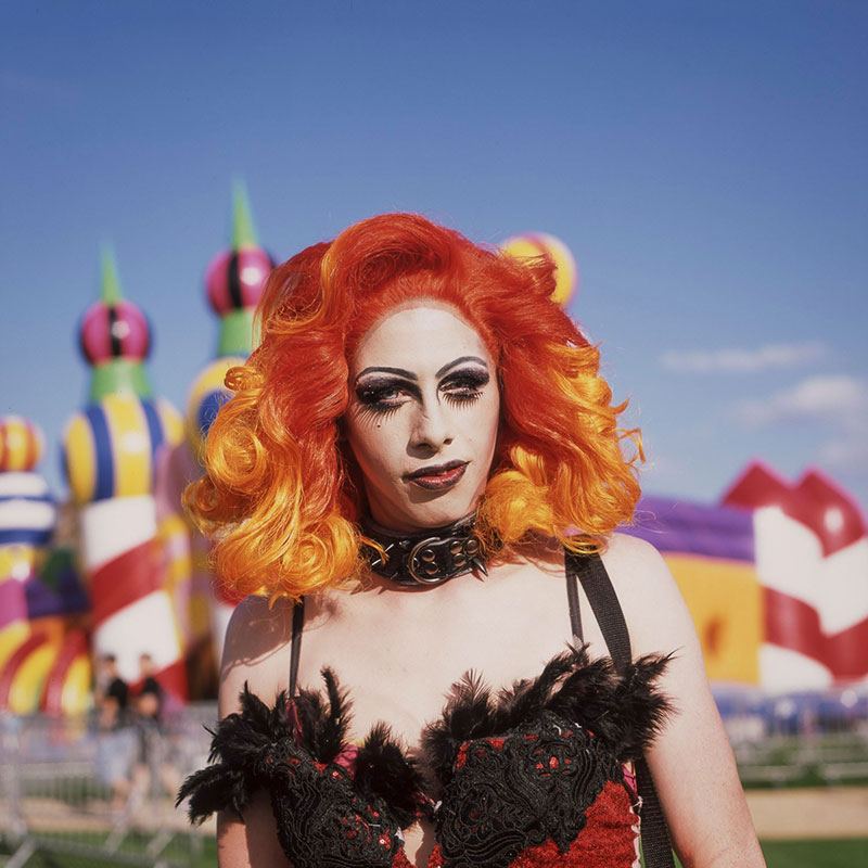 Roxy, by Joe Lang, an image of a woman at Margate Pride, selected for the British Journal of Photography's Portrait of Britain