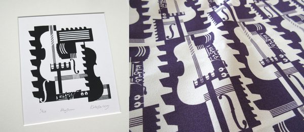 - Work by Kate Farley, Textile Designer of a Barbican print pattern
