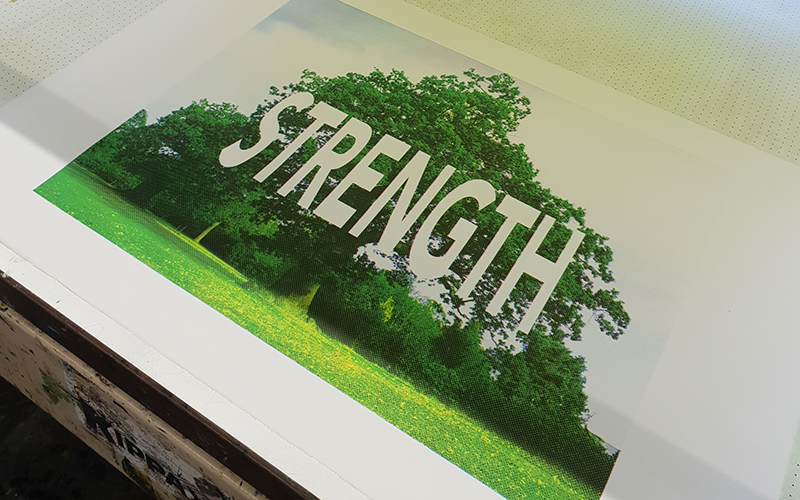 Strength print by Carl Rowe