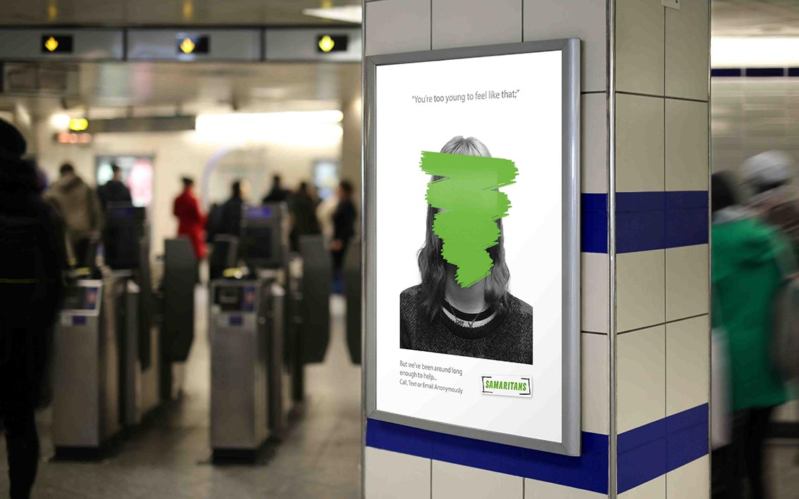 Joe Bamford and Gemma Bonner, Samaritans campaign