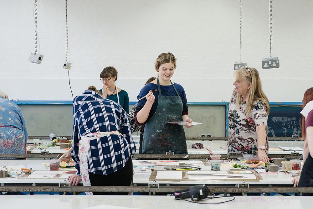 Textile Design students in studio