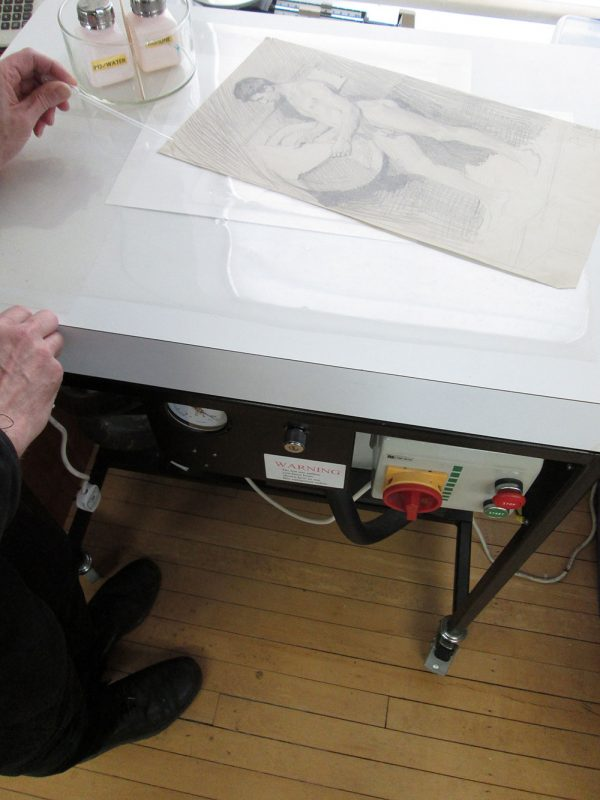 - Munnings drawing restoration process