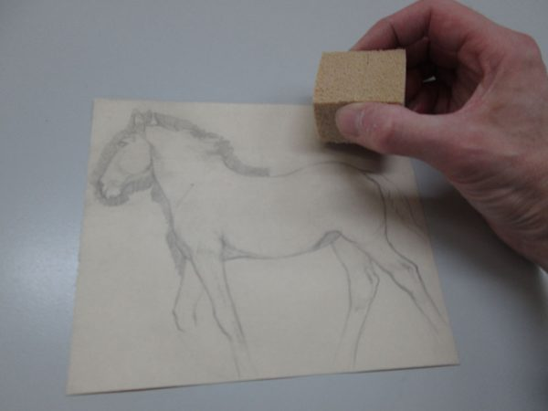 - Famous Munnings drawing of a horse being restored