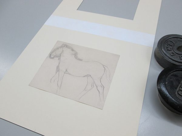 - Sir Alfred Munnings drawing of a horse being restored