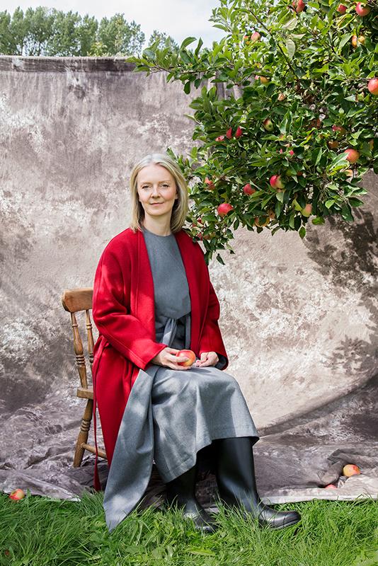 Portrait photograph of MP Elizabeth Truss by Sophie Ellen, BA Photography Lecturer -
