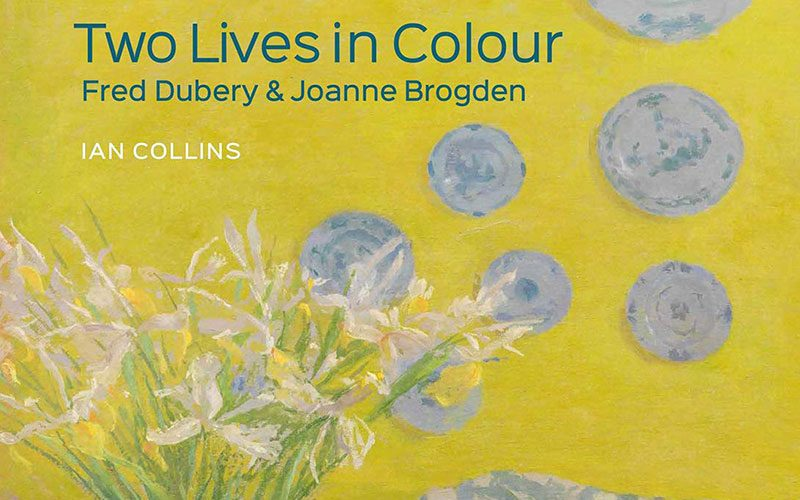 Book cover by Ian Collins on Two Lives in Colour