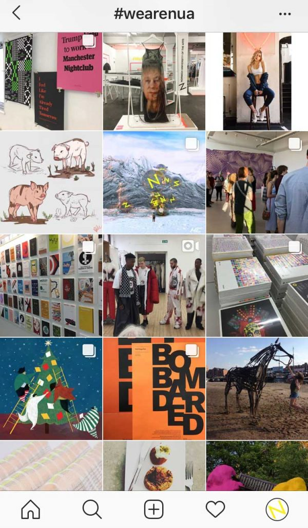Search #WeAreNUA on Instagram to see some of our fantastic student work! -
