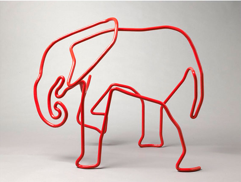 Red Wire Elephant