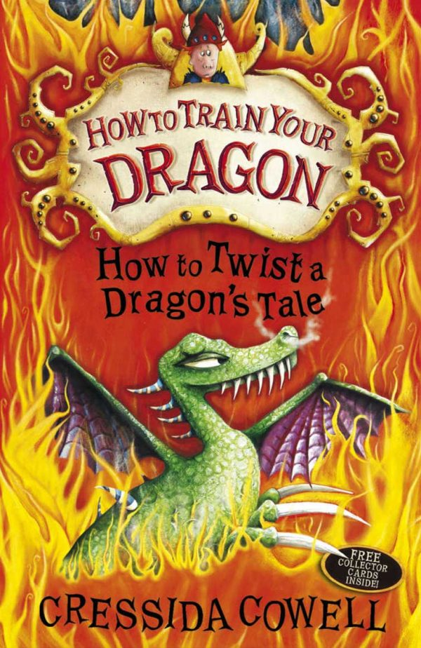 - Book cover of How to Train Your Dragon, illustrated by Chris Gibbs, showing a dragon surrounded by fire