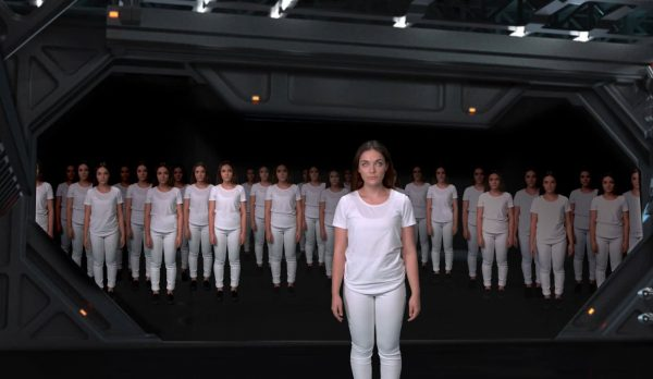 Pheya Tribelsky - Norwich University of the Arts Student work by BA VFX student Pheya Tribelsky showing women in matching white outfits standing together