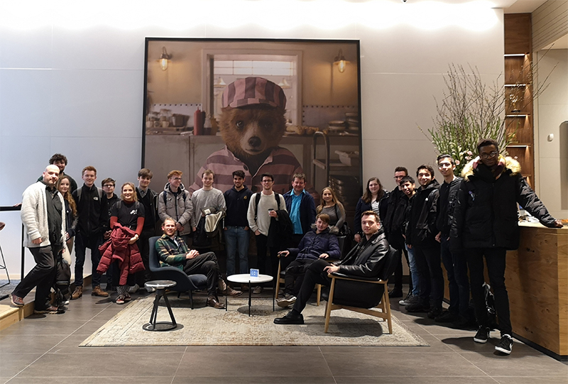 Group photo of VFX students and staff in London at Framestore