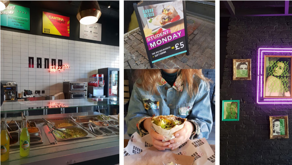 4 pictures of inside Nanna Mexico, Norwich