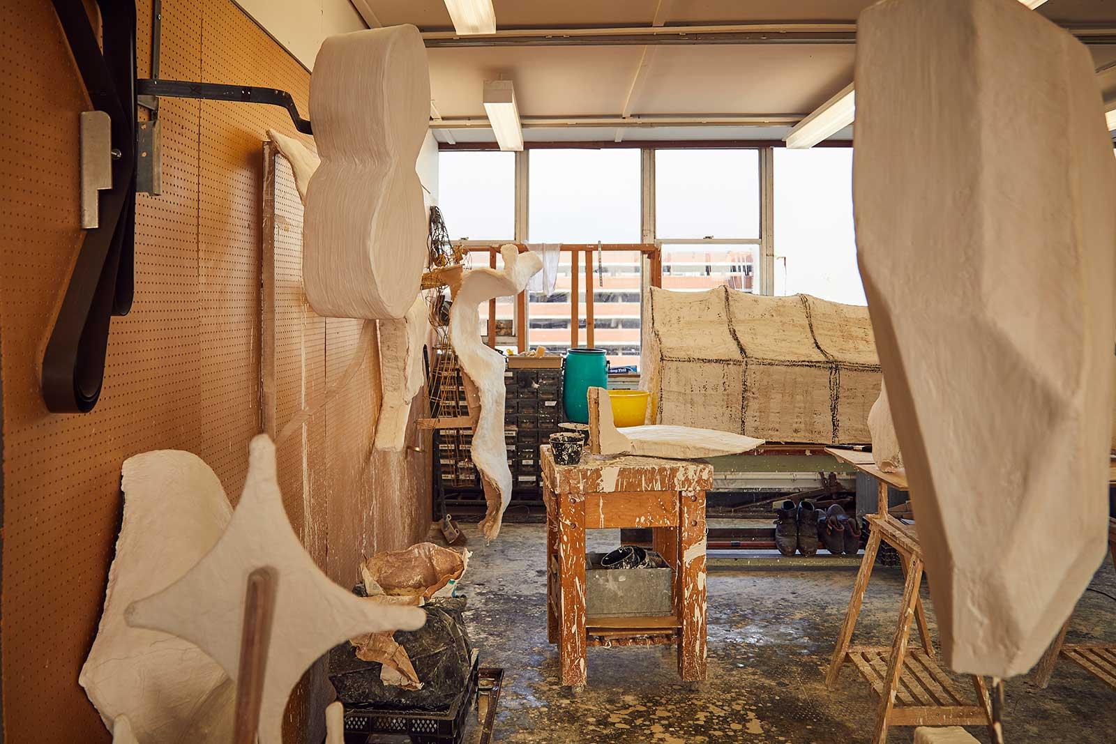 Desmond's studio and work space