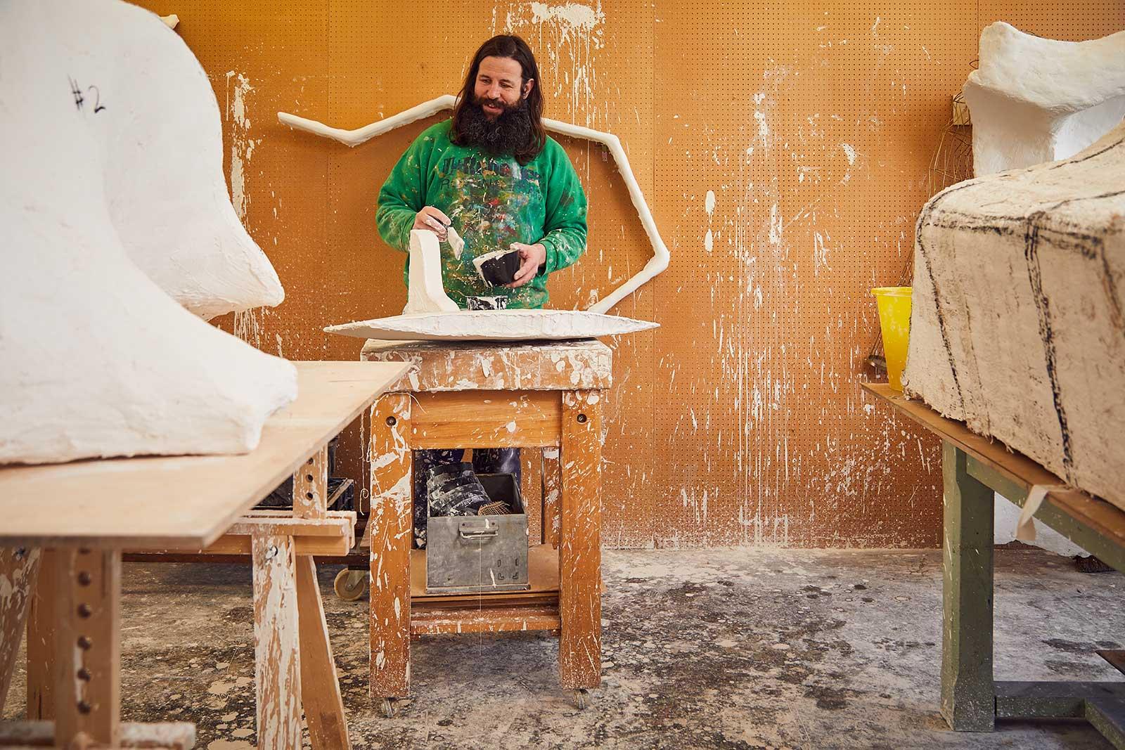 Desmond in his studio