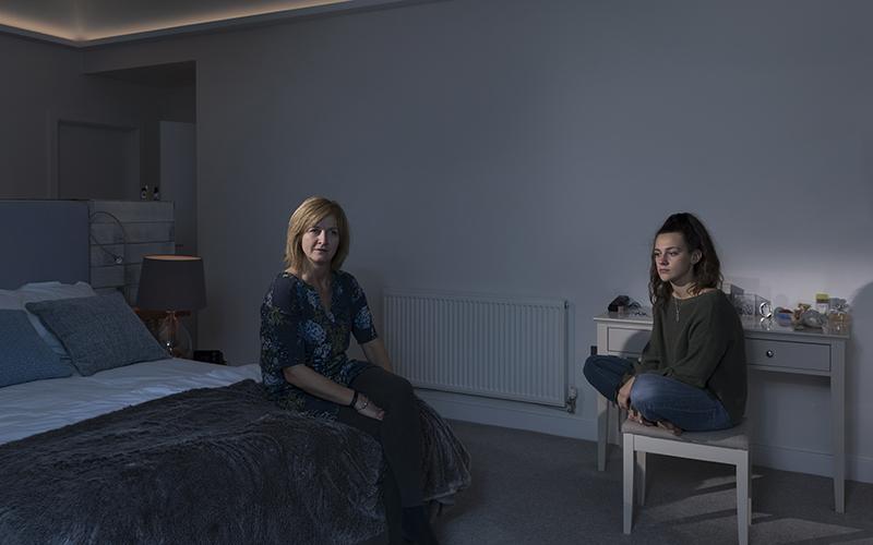 Photo by Jo Lauren of two women in a bedroom