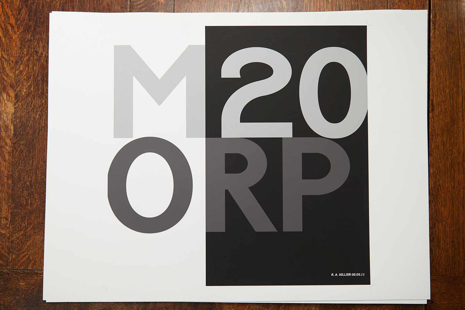 Typographic work of a Manchester postcode by graphics Lecturer Rob Hillier