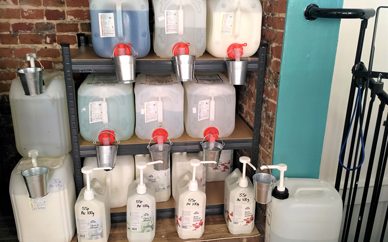 Refillable household liquids in Ernies