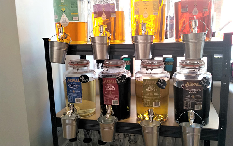 Refillable oils in Ernies